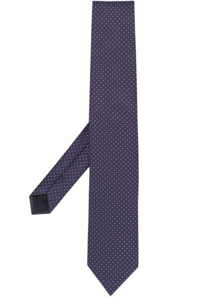 Фиолетовый галстук с рисунком Lardini