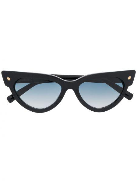 Прямые муслиновые черные солнцезащитные очки квадратные Dsquared2 Eyewear