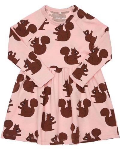 Хлопковое платье - розовое Mini Rodini