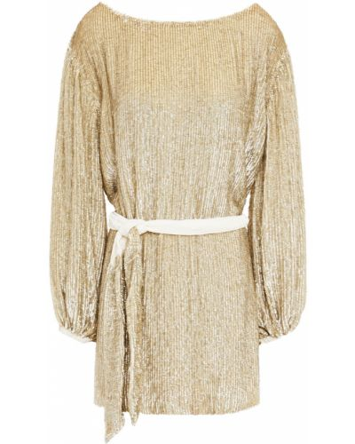 Złota sukienka mini Retrofete