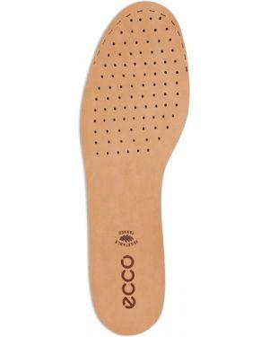 Коричневые кожаные стельки Ecco