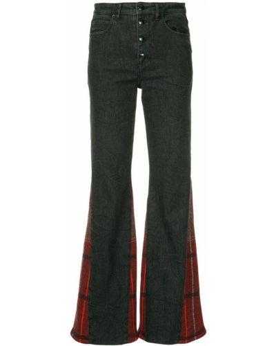 Расклешенные джинсы в клетку на пуговицах Sonia Rykiel