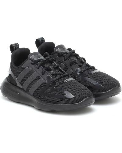 Włókienniczy czarny sneakersy Adidas Originals Kids