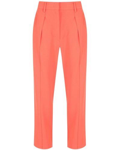 Оранжевые брюки с завышенной талией НК