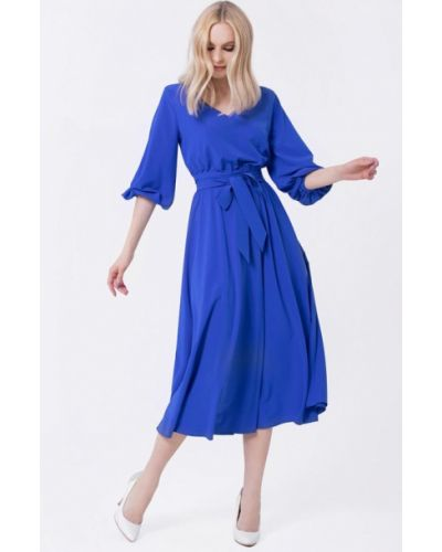 Платье прямое синее Lo