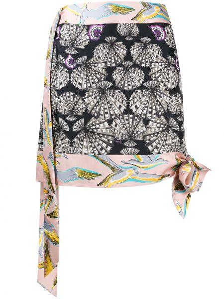 Spódnica mini z nadrukiem z wysokim stanem Emilio Pucci Pre-owned
