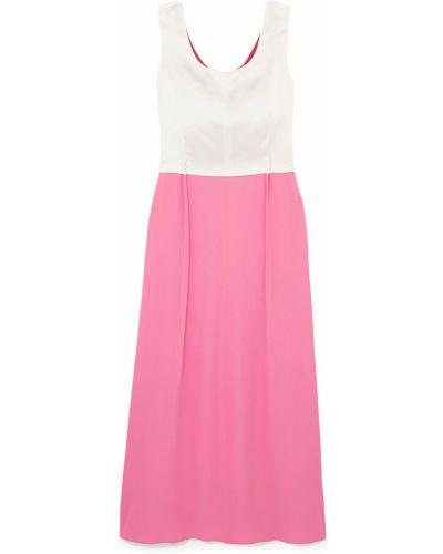 Платье макси атласное - розовое Marni