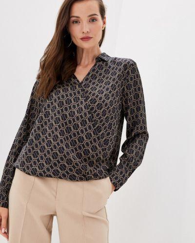 Черная блузка с длинным рукавом с длинными рукавами Zolla