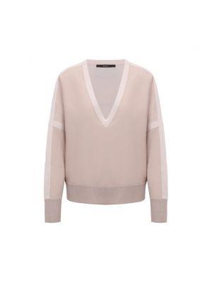 Шерстяной пуловер - бежевый Windsor