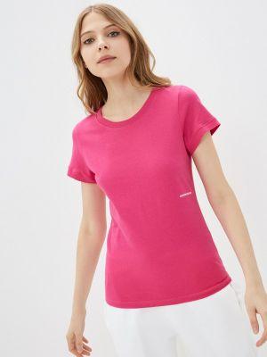Розовая футболка с короткими рукавами Calvin Klein Jeans