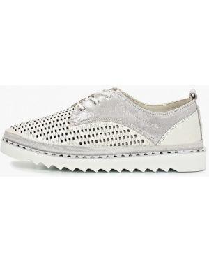Кожаные ботинки белые кожаные Madella