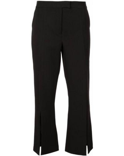 Черные укороченные брюки с поясом на пуговицах Robert Rodriguez Studio