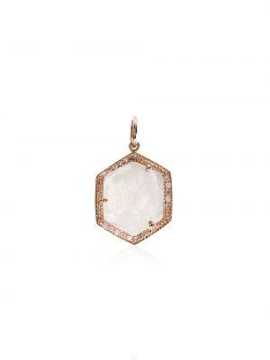 Тонкое ожерелье с подвесками с бриллиантом золотое Jacquie Aiche