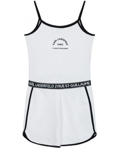 Biały kombinezon Karl Lagerfeld