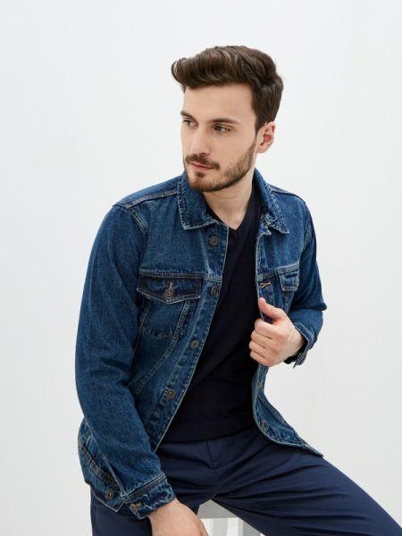 Синяя джинсовая куртка прозрачная Piazza Italia