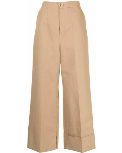 Spodnie z wysokim stanem - beżowe Enfold