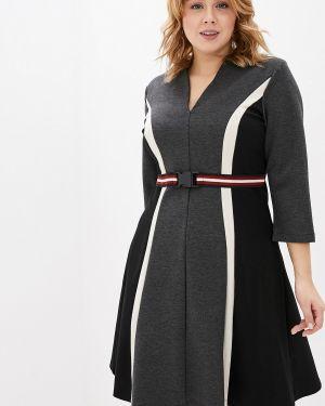 Повседневное платье серое осеннее Kitana By Rinascimento