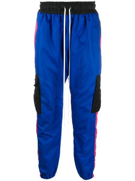 Niebieskie spodnie z nylonu Daniel Patrick