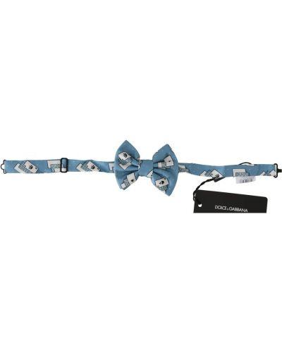 Niebieska mucha z jedwabiu Dolce And Gabbana