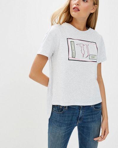 Серая футболка Trussardi Jeans
