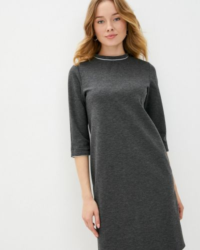 Повседневное серое повседневное платье Aelite