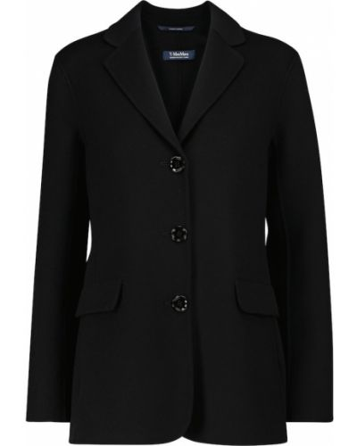 Черная шерстяная куртка 's Max Mara