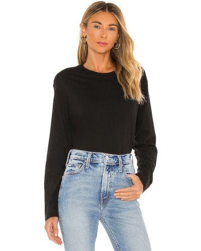 Czarny t-shirt z długimi rękawami bawełniany Atm Anthony Thomas Melillo