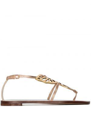 Кожаные сандалии - золотые Sophia Webster