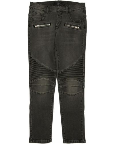 Bawełna czarny jeansy z kieszeniami Balmain