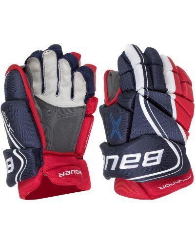 Синие перчатки нейлоновые бауэр