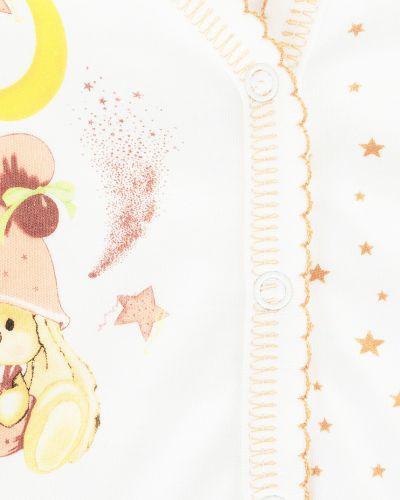 Распашонка бежевая с принтом Babyglory
