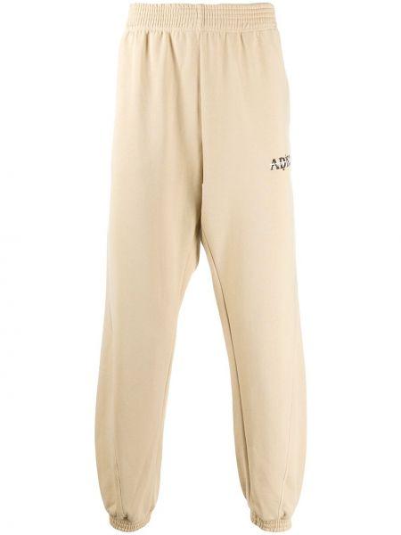 Прямые брюки с манжетами новогодние Adish