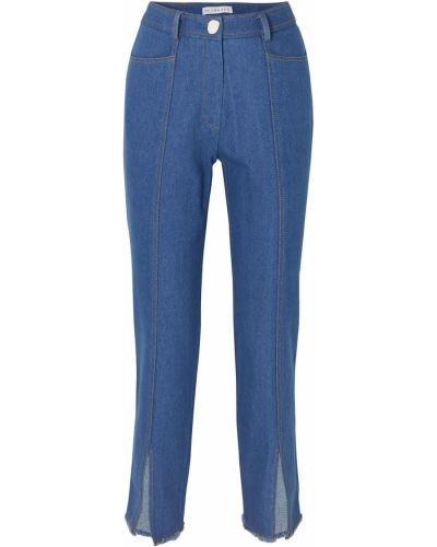 Прямые синие джинсы с поясом Rejina Pyo