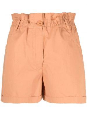 Оранжевые хлопковые шорты с карманами Kenzo
