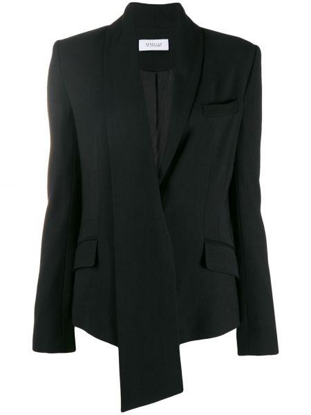 Черный пиджак с карманами с воротником Derek Lam 10 Crosby