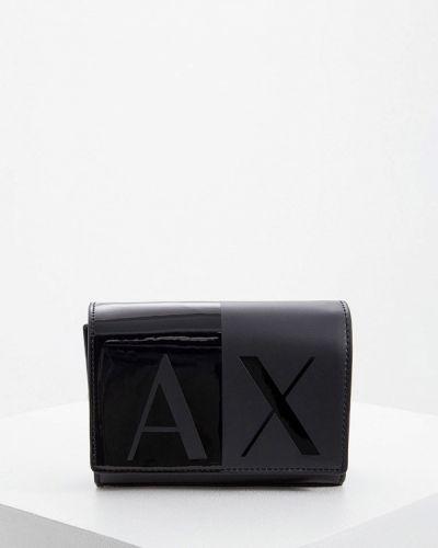 Черная сумка через плечо с перьями Armani Exchange