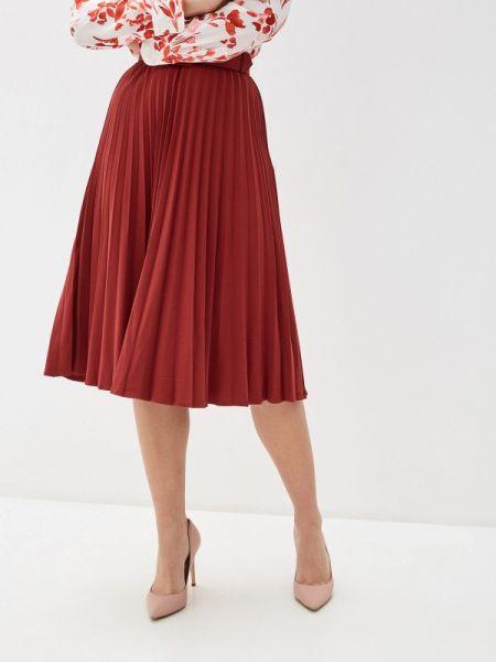 Плиссированная юбка бордовый красный Zarina