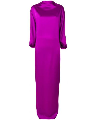 Платье с драпировкой - фиолетовое Chalayan