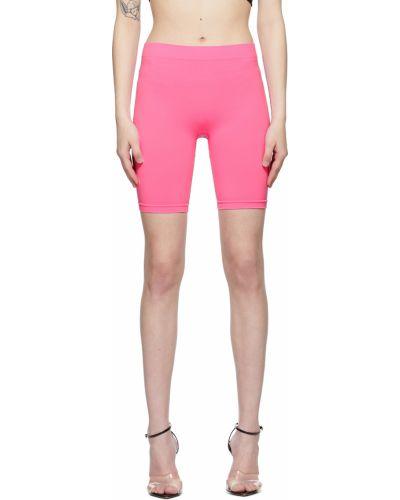 Розовые байковые шорты Helmut Lang
