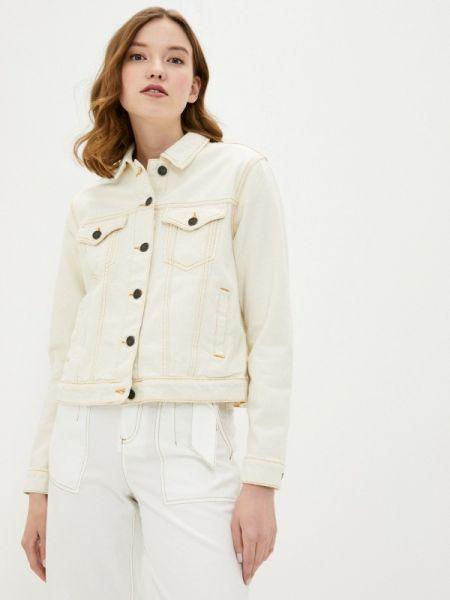 Бежевая джинсовая куртка Noisy May