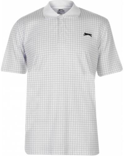 Biały golf krótki rękaw bawełniany Slazenger