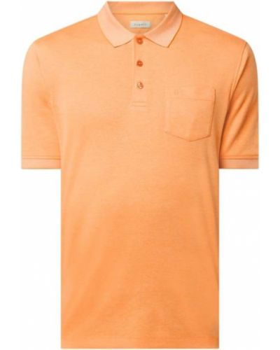 Pomarańczowy t-shirt bawełniany Bugatti