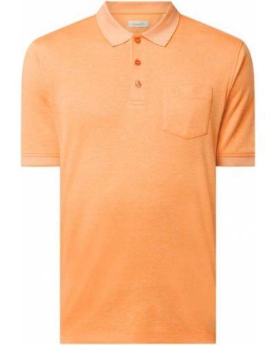 T-shirt bawełniana - pomarańczowa Bugatti