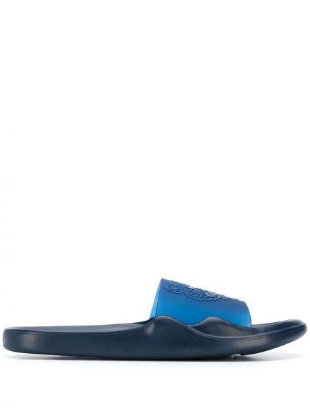 Шлепанцы синий с логотипом Kenzo