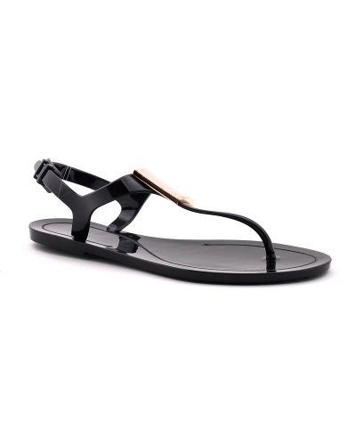 Силиконовые сандалии - черные Versace