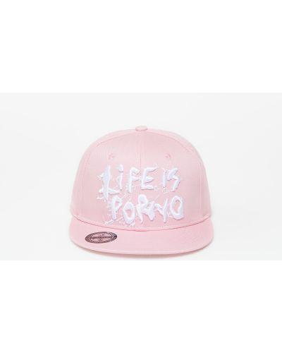 Różowa czapka Life Is Porno