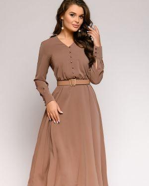 Повседневное платье на пуговицах платье-сарафан 1001 Dress