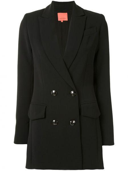 С рукавами черная куртка двубортная Manning Cartell