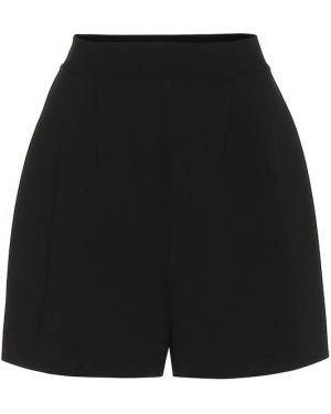 Однобортные теплые черные шорты Alaïa