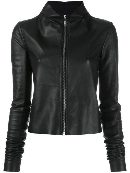 Черная кожаная куртка байкерская Rick Owens Lilies